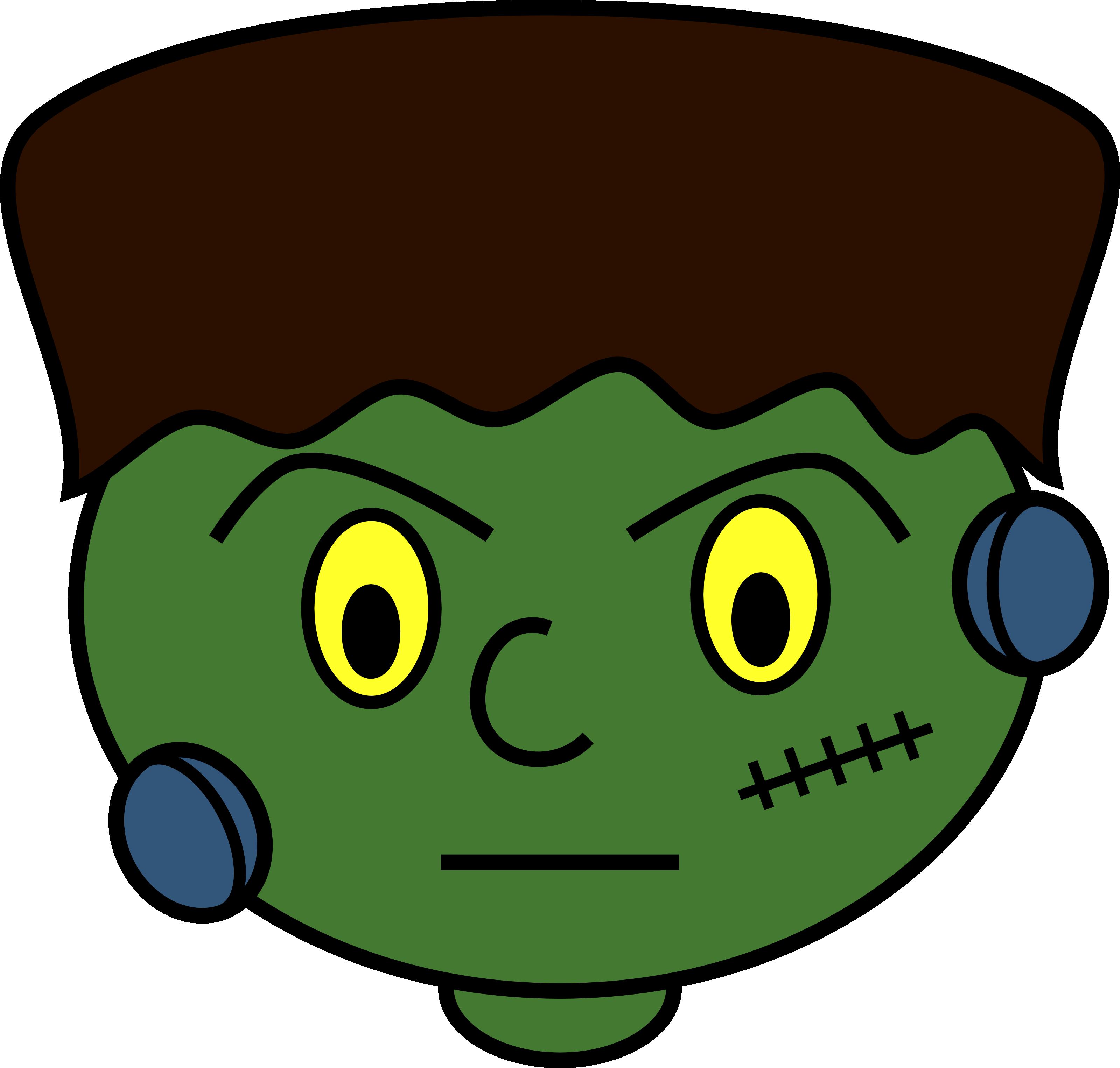 Head clip art halloween. Frankenstein clipart silhouette
