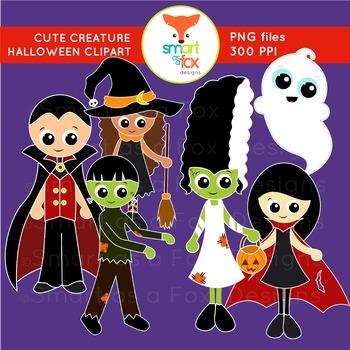 Frankenstein clipart vampire. Halloween ghost witch creatures