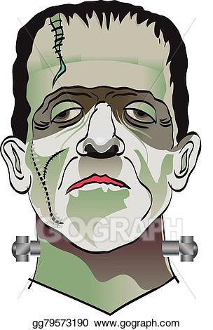 Frankenstein clipart vector. Art eps gg gograph