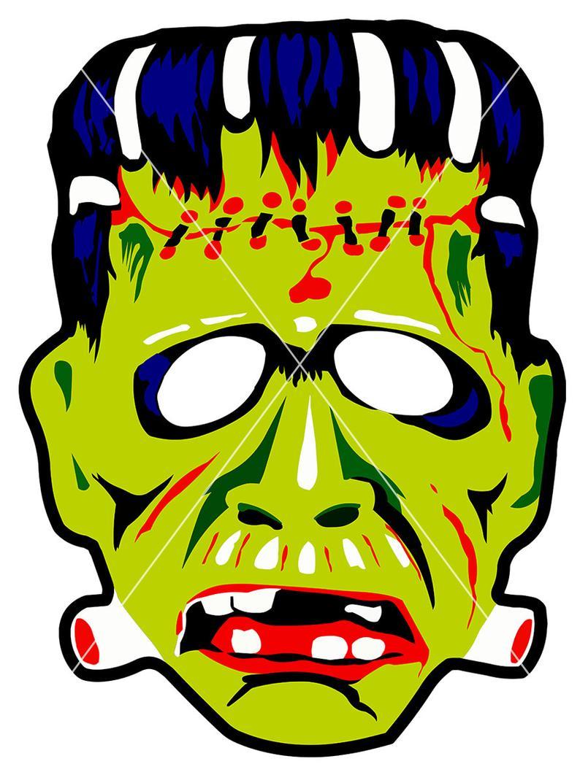 Ben cooper mask vectors. Frankenstein clipart vintage