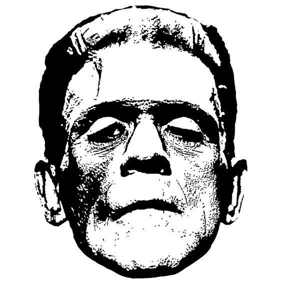 Frankenstein clipart vintage. Graphic vectors clip art