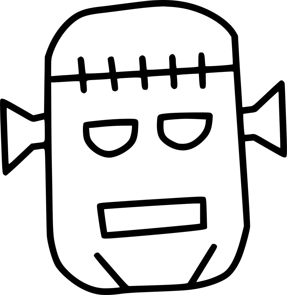 Dead monster horror character. Frankenstein clipart zombie