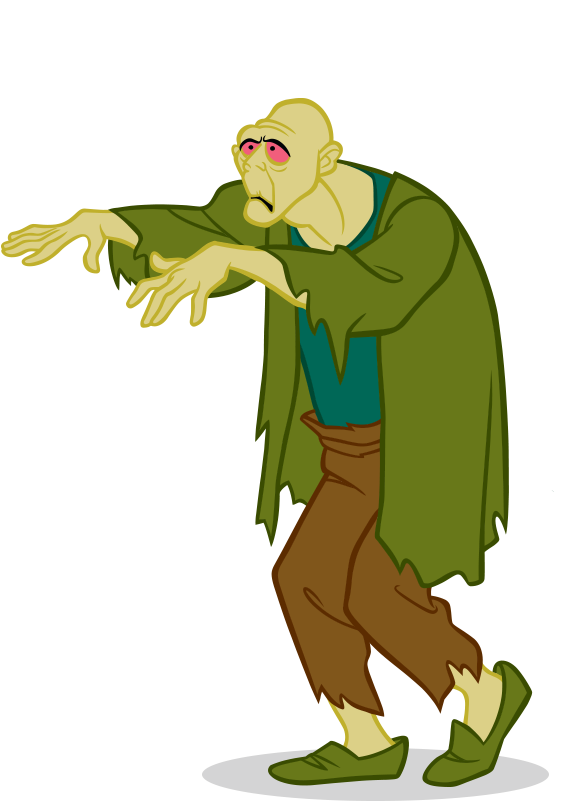 Zombie png . Scooby doo clipart scared