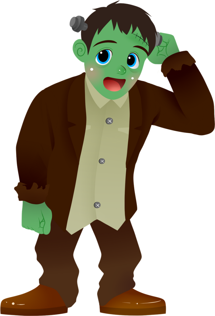 Free page of to. Frankenstein clipart zombie