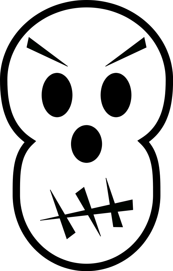 Skull on dumielauxepices net. Free clipart animated