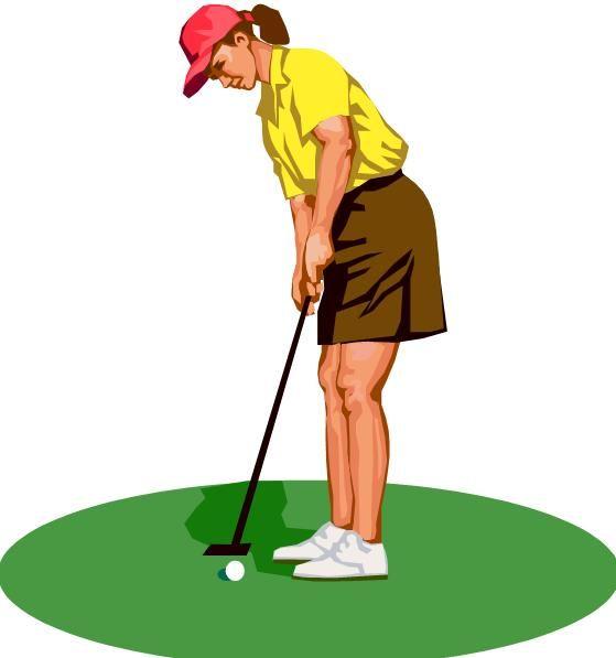 Girl clip art free. Golfing clipart golf field