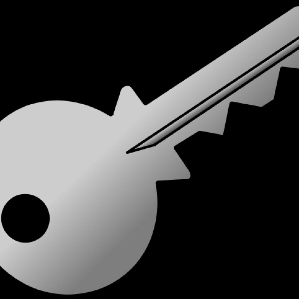 Keys clipart black and white. Key math hatenylo com