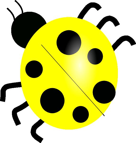 Yellow ladybug clip art. Ladybugs clipart cycle