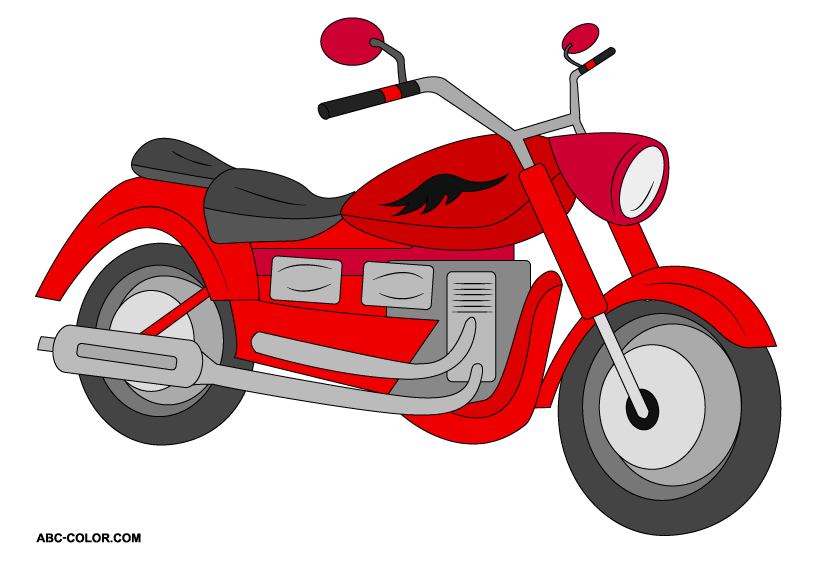 Motorcycle raster clipart free clipart images