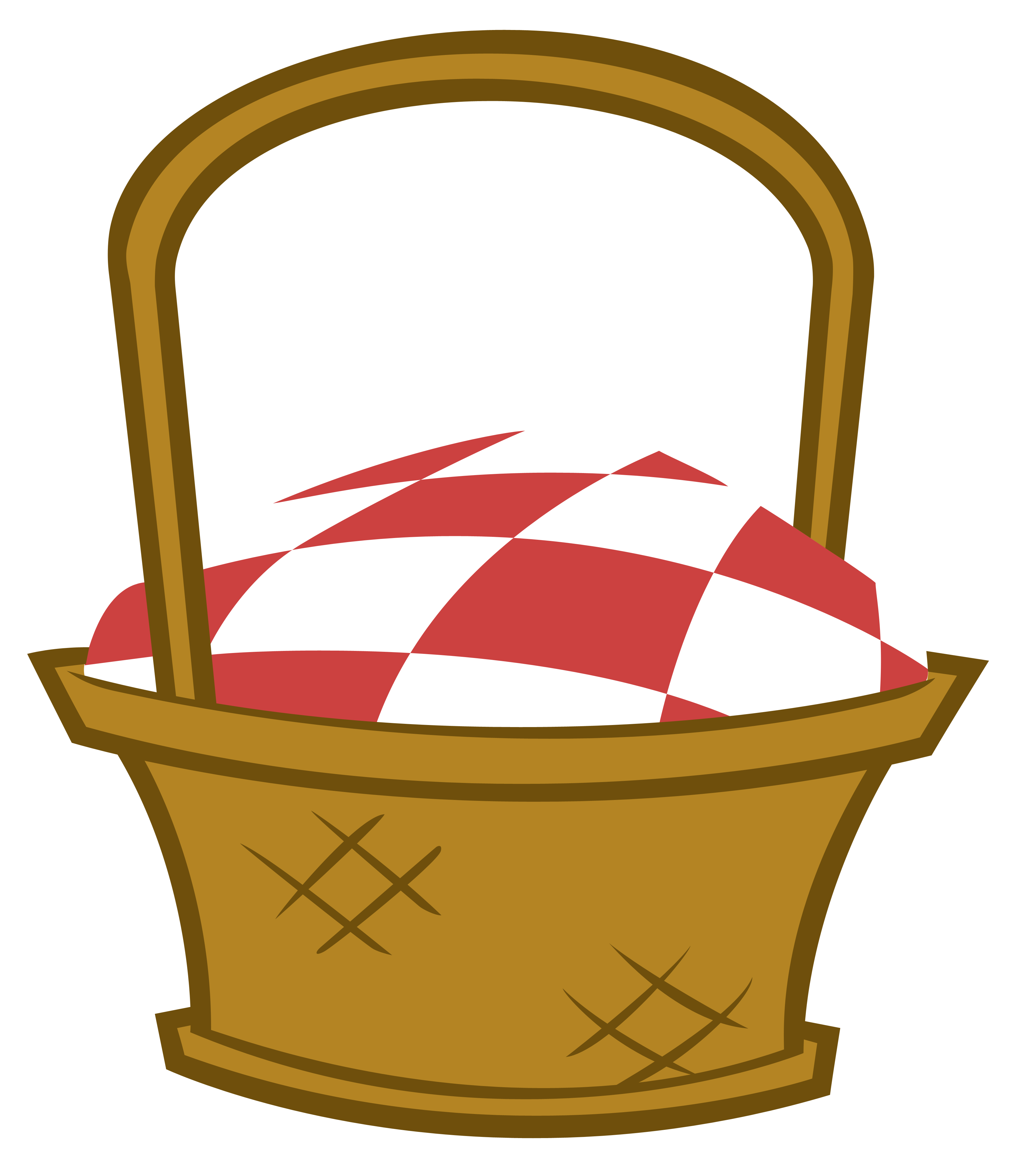 Basket with ants clip. Free clipart picnic