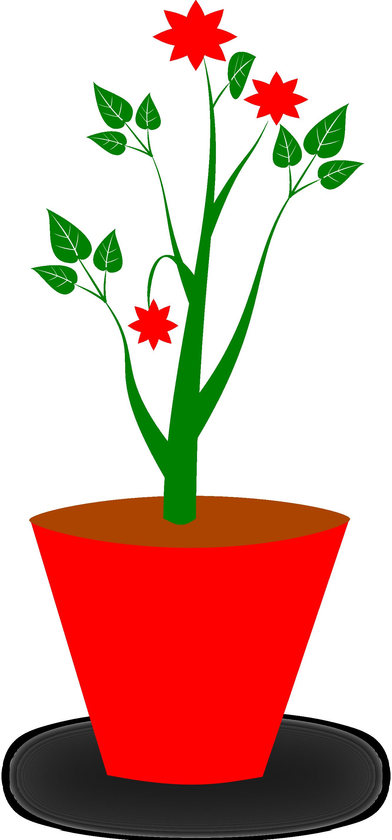 Poinsettia clipart potplants. Flower potted plant panda
