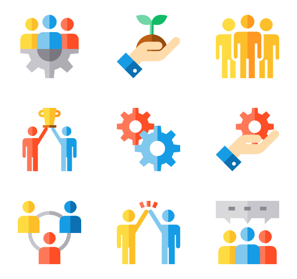 Image group icons free. Working clipart teamwork