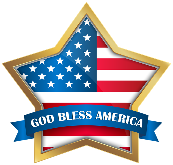 God bless america star. Free clipart veterans day