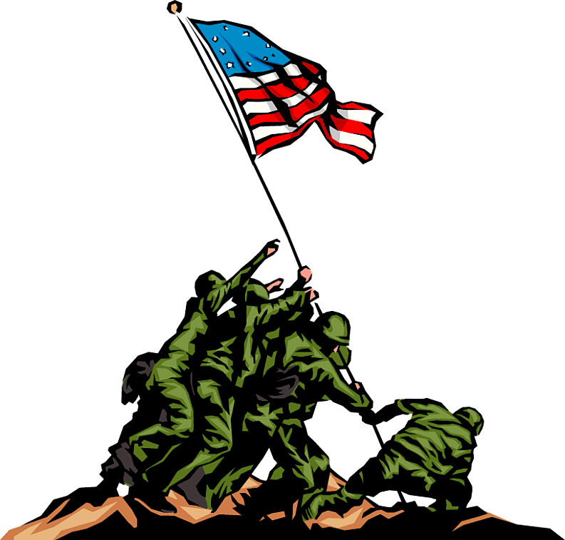 Clip art of and. Parade clipart veterans day