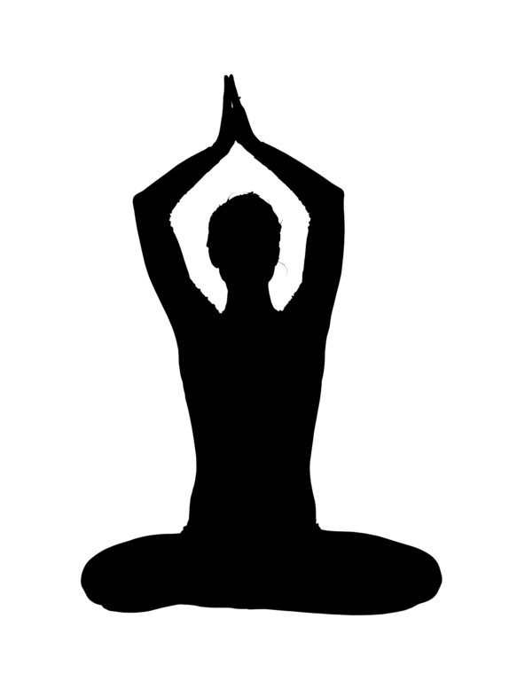 Schedule clipart yoga. Silhouette at getdrawings com