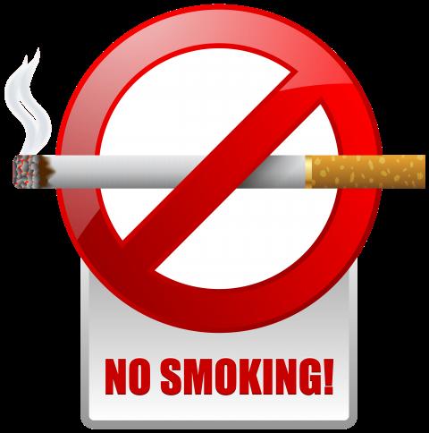 Free png images. Red no smoking warning