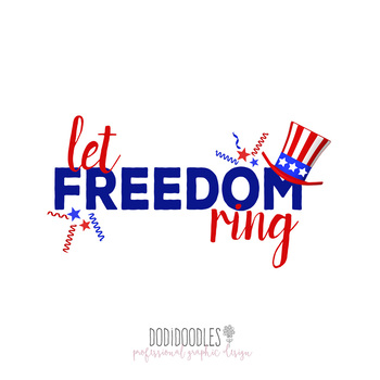 Fourth of july let. Freedom clipart