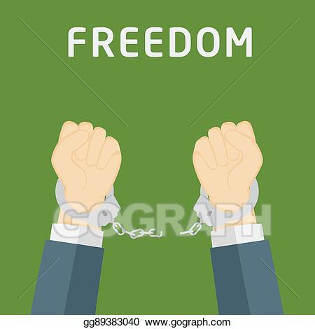 Freedom clipart hands. Vector stock male breaking