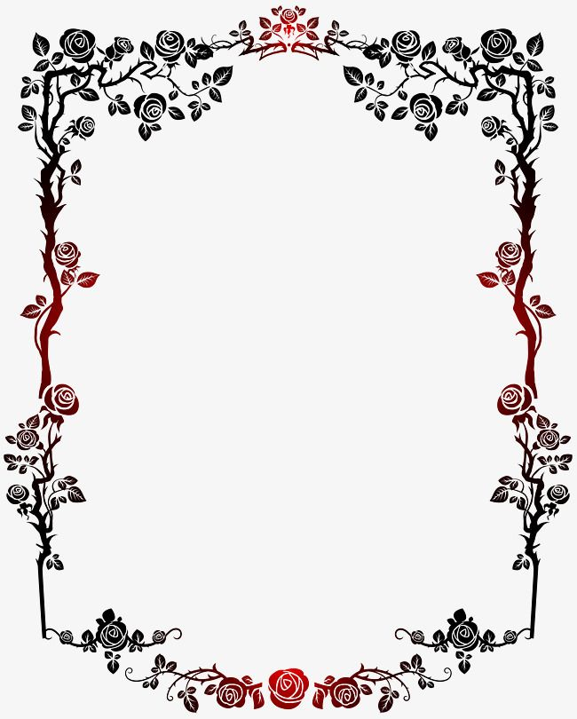 Red and black gradient. French clipart border french
