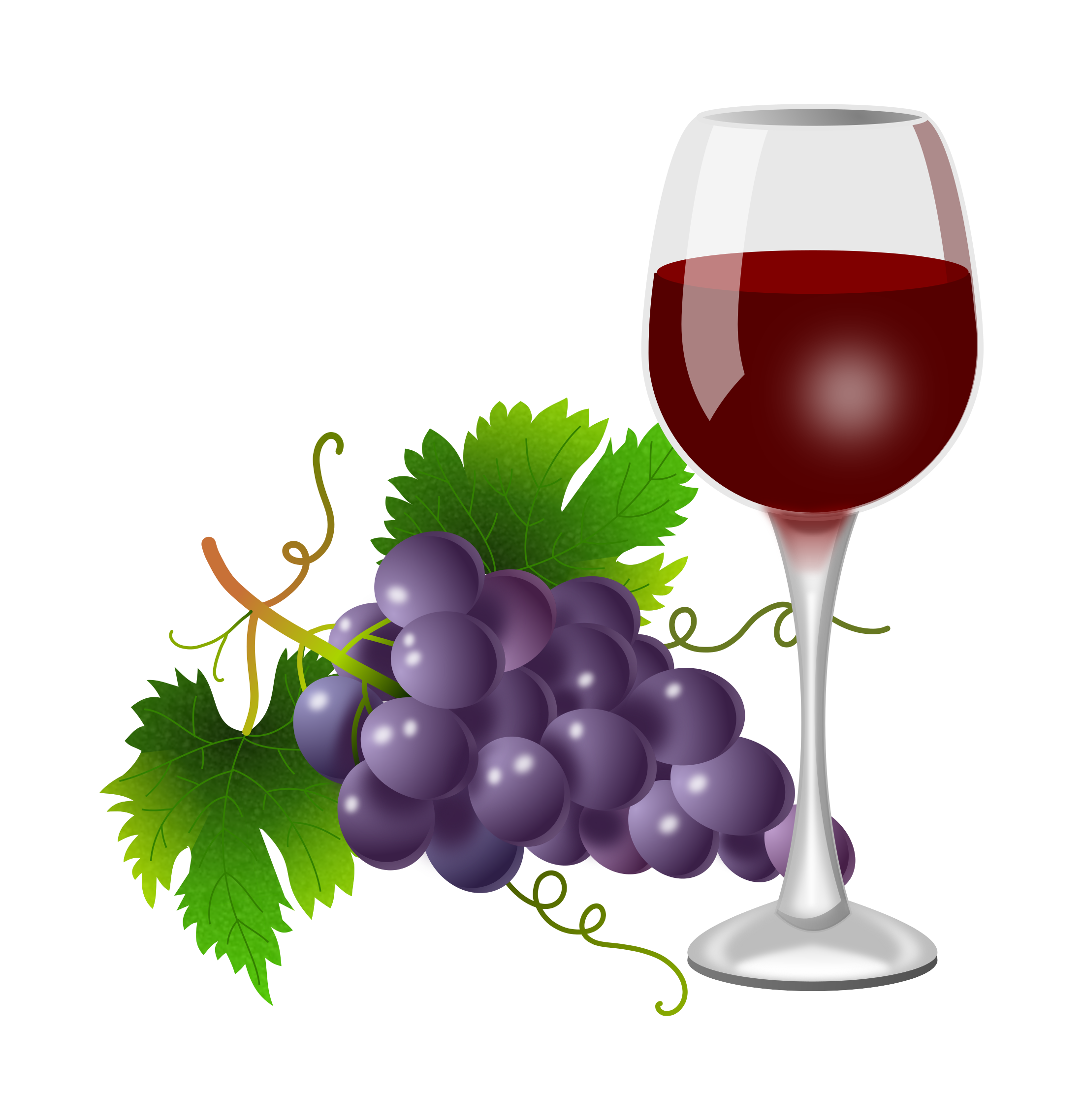 Grapes clipart happy. Purple and wine glass