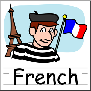 French clipart color. Clip art basic words