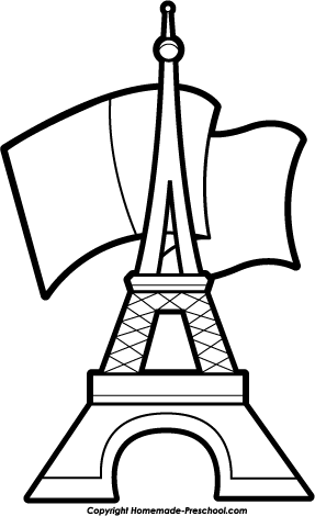 Tower clipart coloring page. Free eiffel pages clip