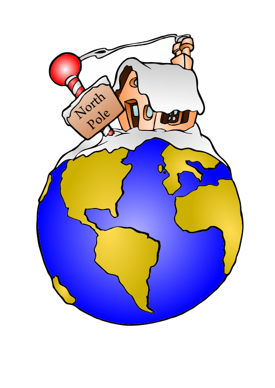 French clipart easy. North pole holiday christmas