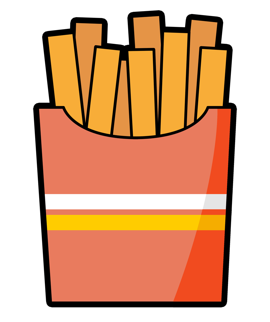 Fries clipart cute.  collection of french