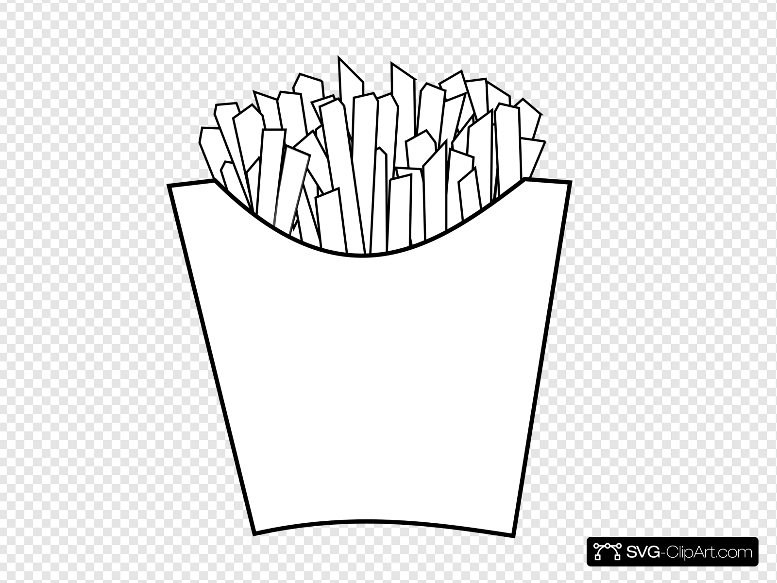 Fries art clip icon. French clipart line