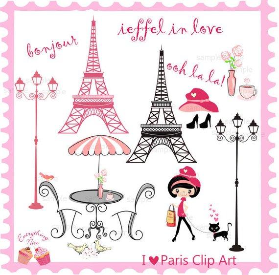 I paris clip art. French clipart love