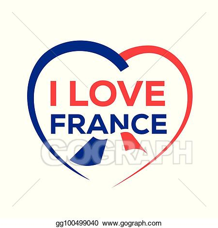French clipart love. Eps vector i france
