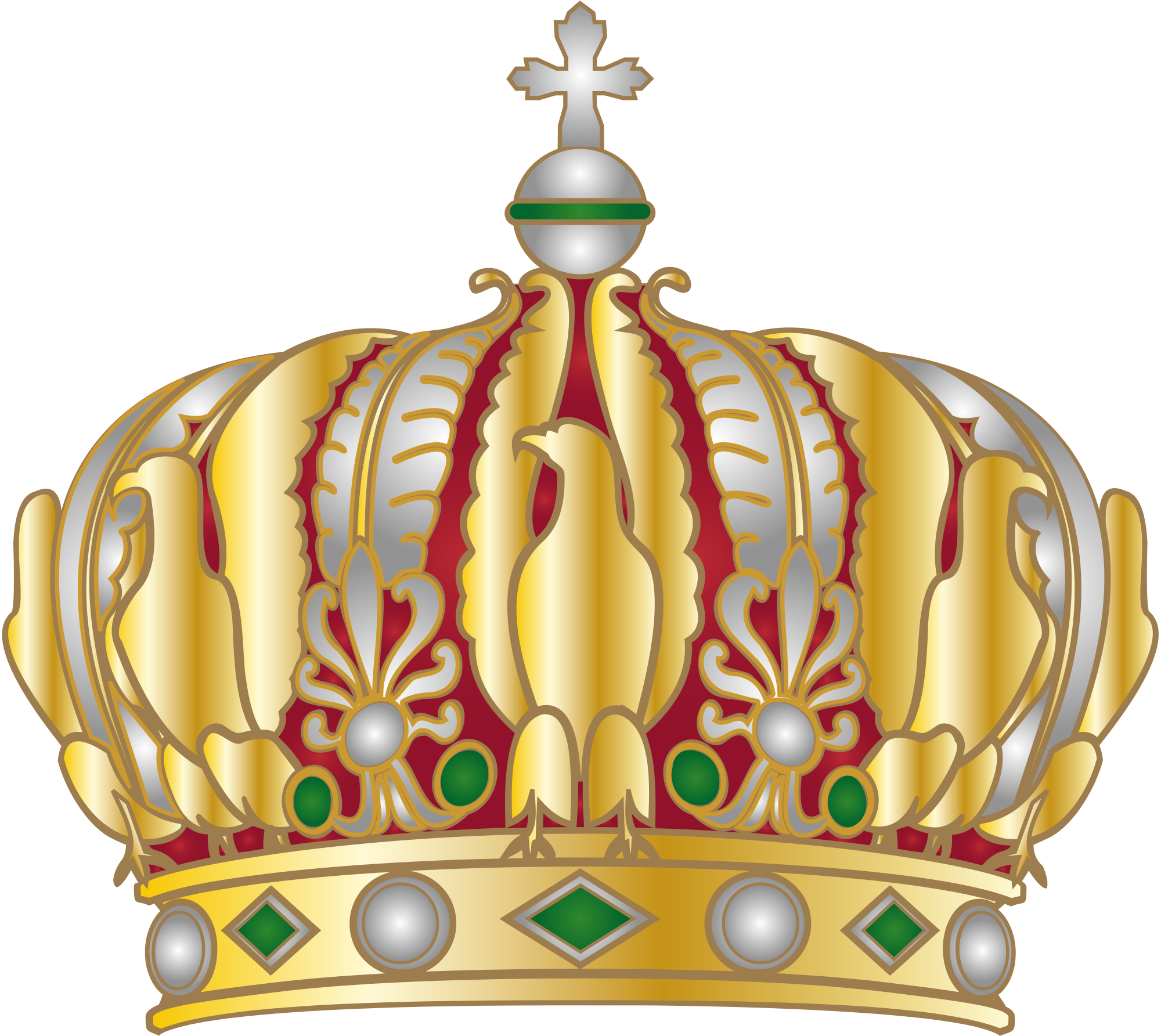 File imperial crown of. Sleigh clipart svg