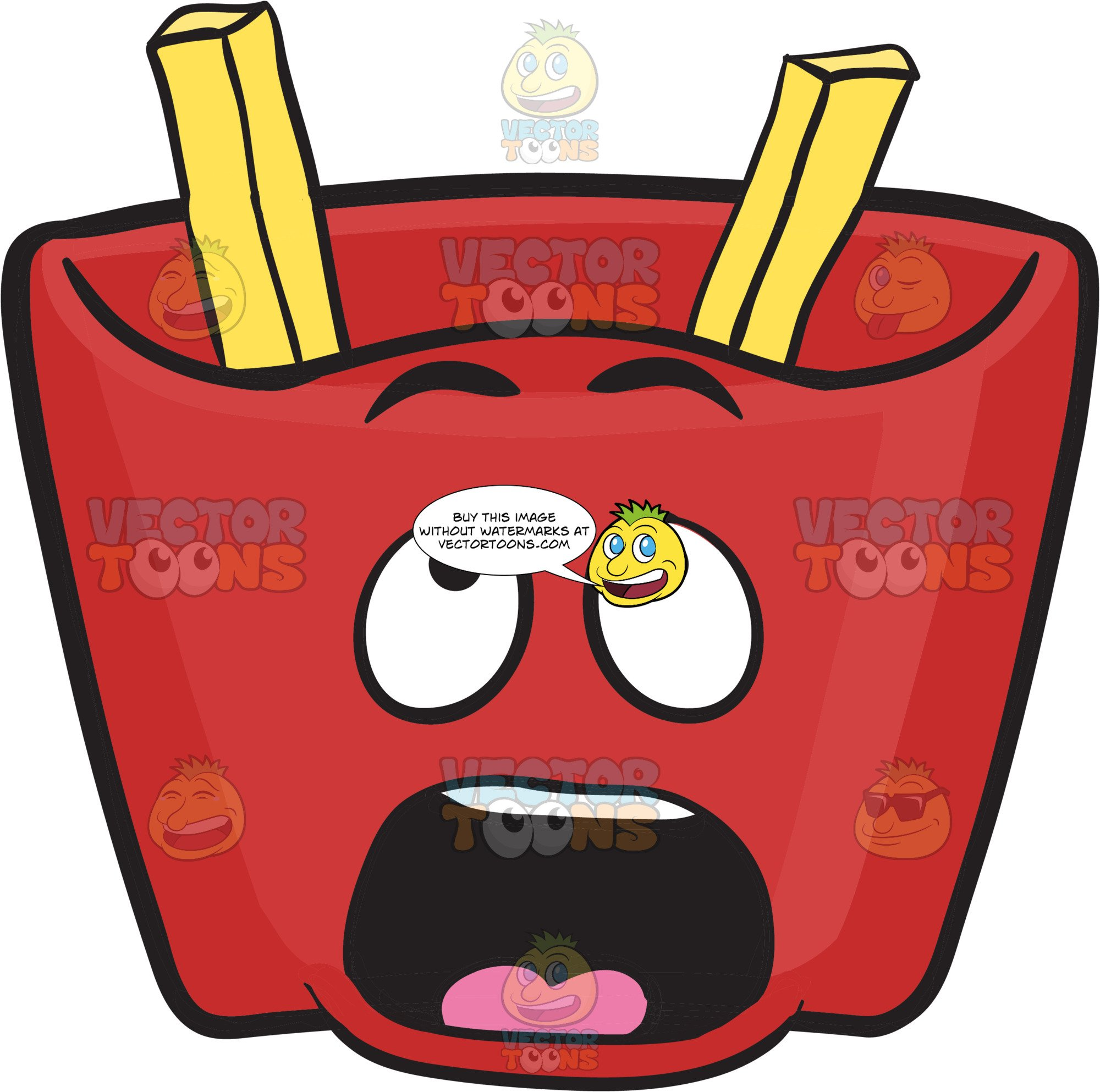 Fries clipart red. Pack of french missing