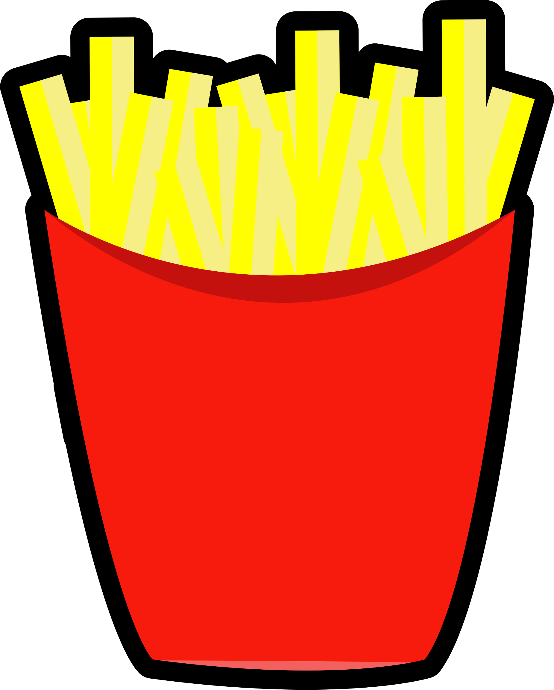 French. Fries clipart red