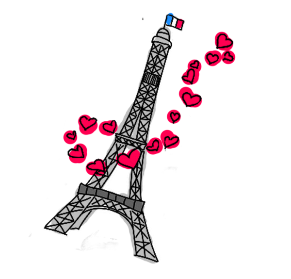 Tour paris whimsey pinterest. French clipart sketch eiffel tower