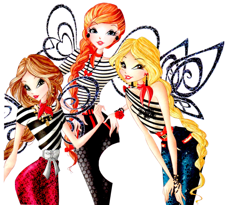 Winx fancy style world. French clipart street paris