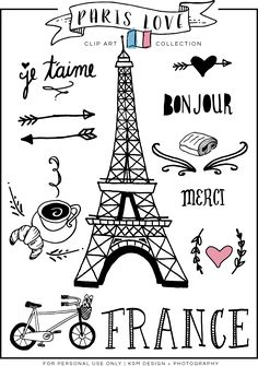 best images in. French clipart themed paris