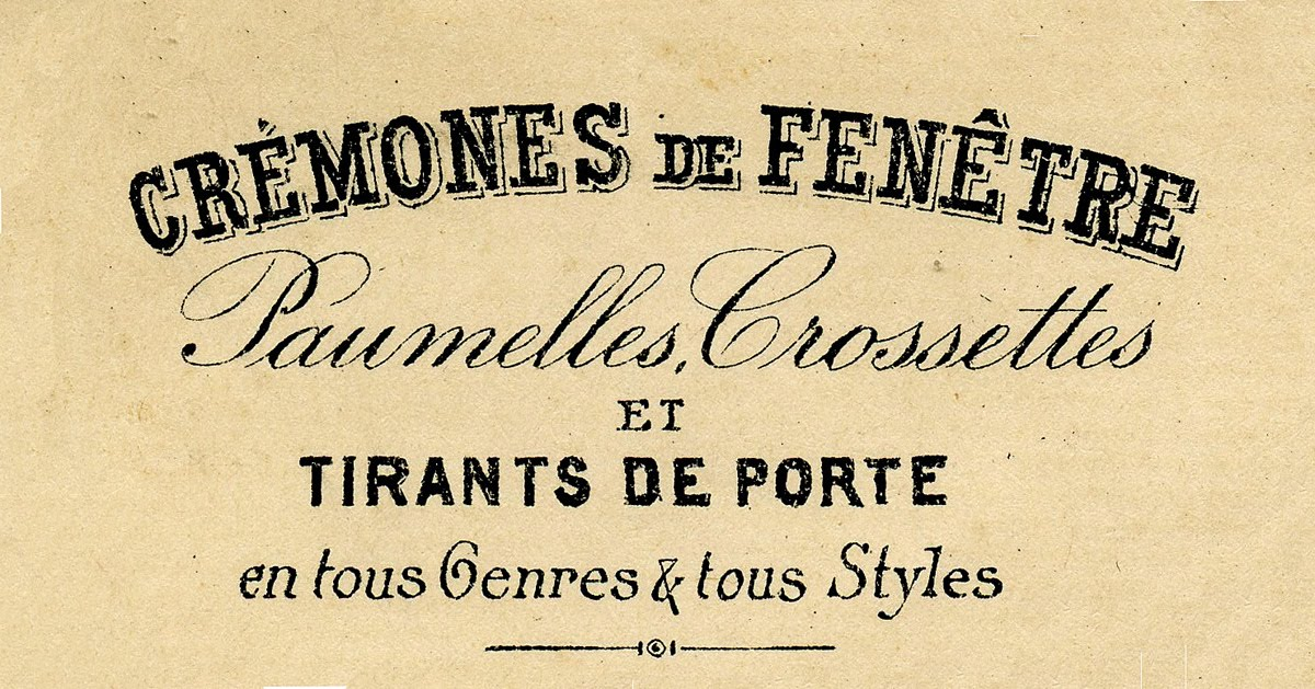 French clipart typography. Vintage clip art beautiful