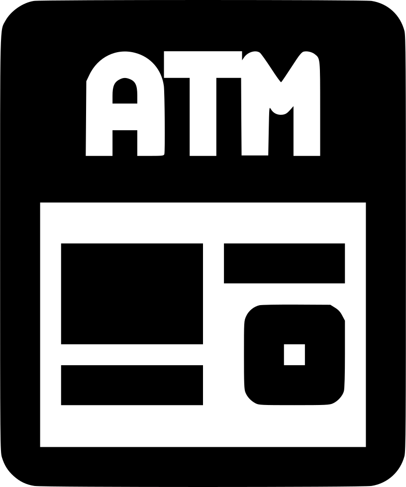 Atm svg png icon. French clipart typography