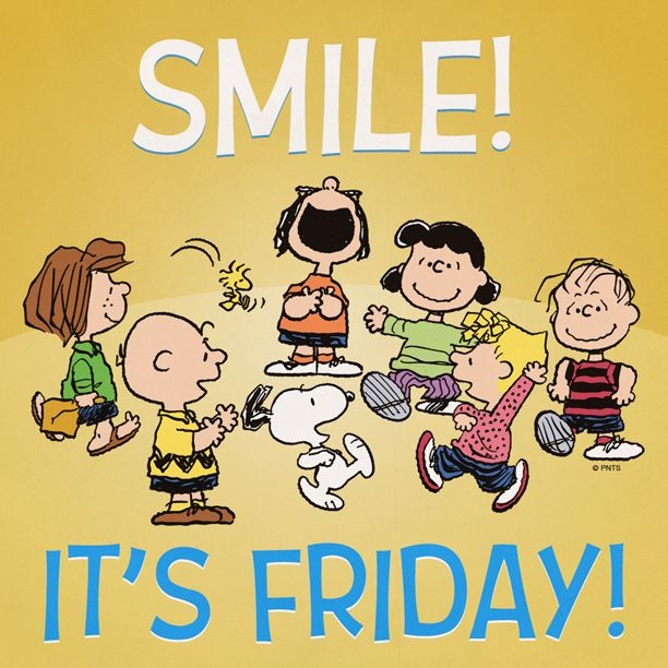Snoopy happy . Friday clipart