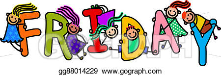 Friday clipart. Stock illustration kids illustrations