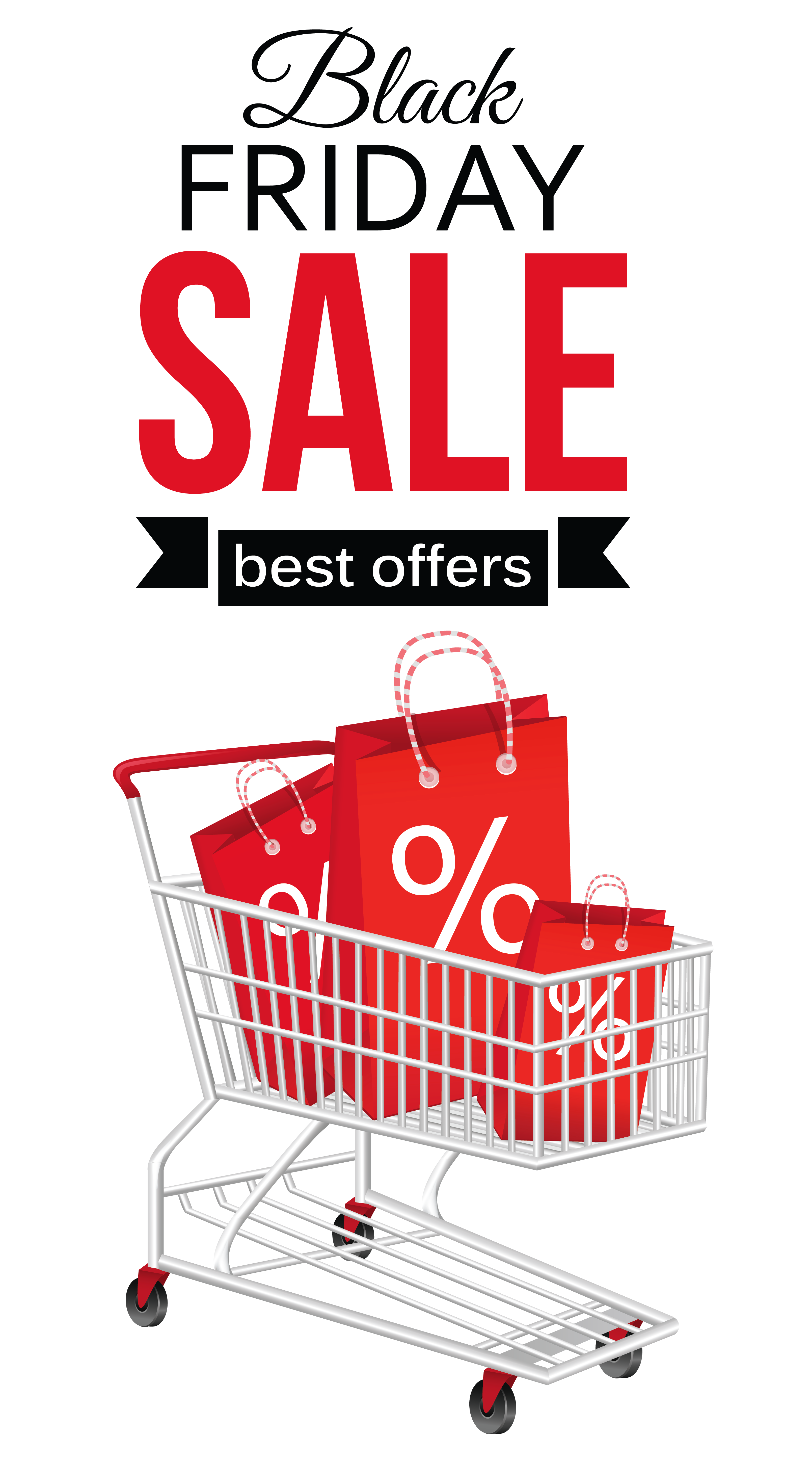 Wagon clipart trolley. Black friday sale with