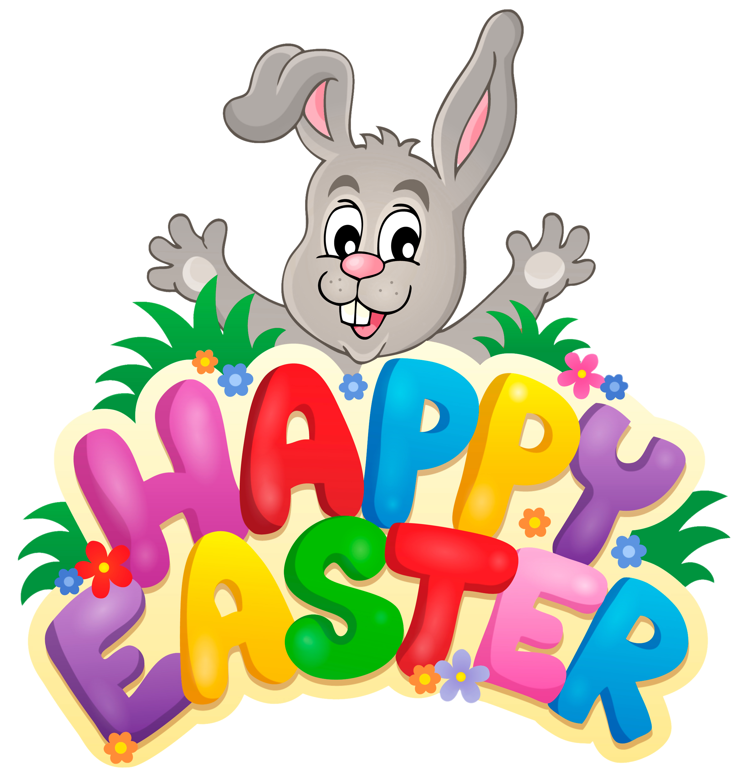 Happy easter to all. Mail clipart msg