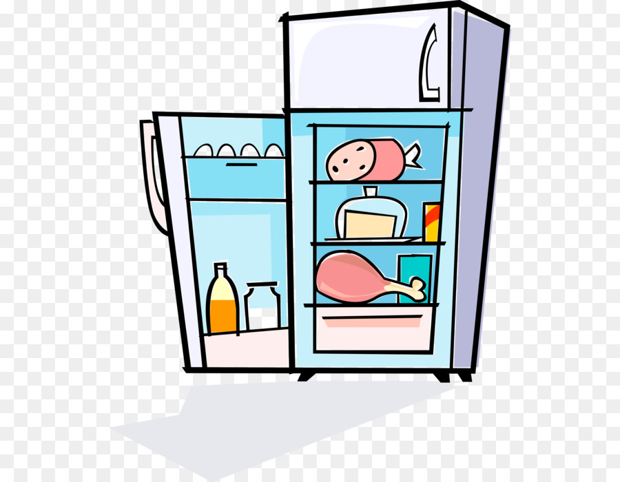 Kitchen cartoon transparent . Refrigerator clipart