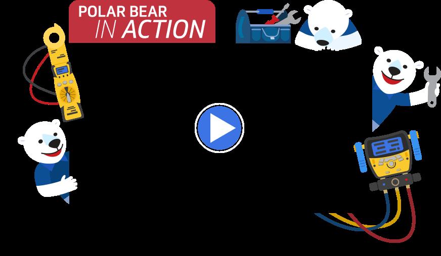 Polar bear conditioning residential. Fridge clipart air conditioner