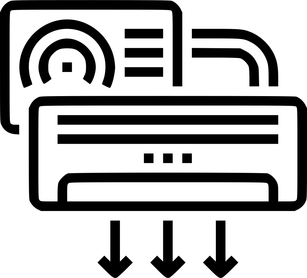 Fridge clipart air conditioner. Svg png icon free