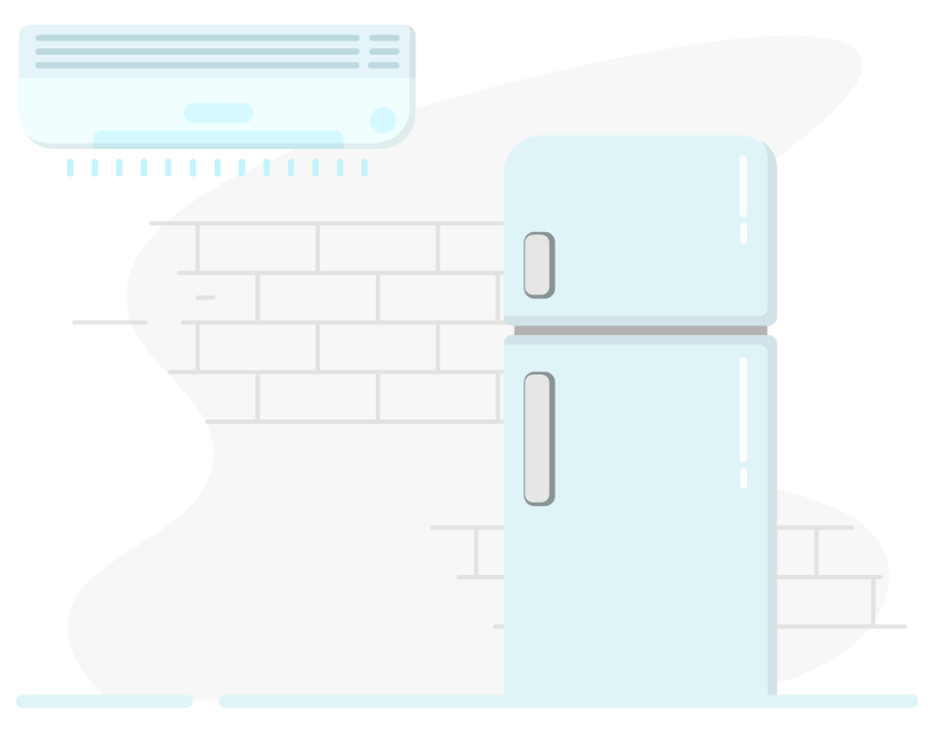 Cool tech one stop. Fridge clipart air conditioner