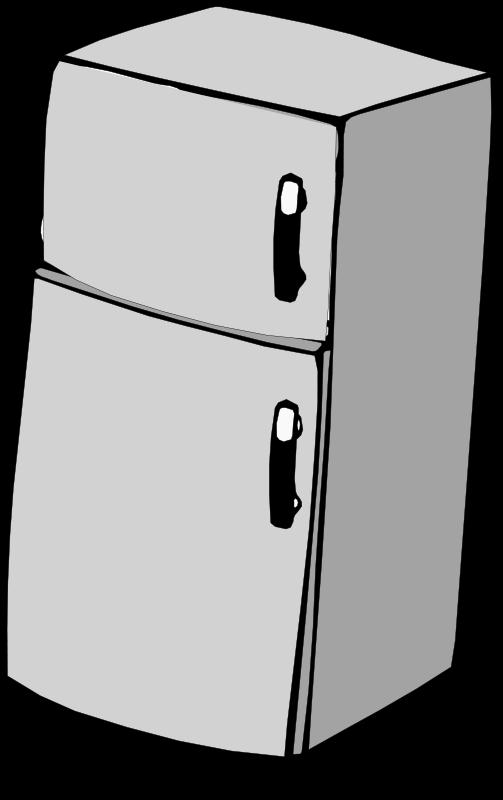 Refrigerator icon . Fridge clipart appliance
