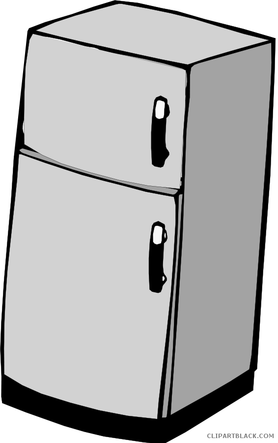 Fridge clipart black and white. Tools free images clipartblack
