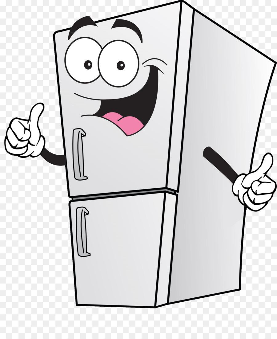 Table refrigerator technology . Fridge clipart cartoon